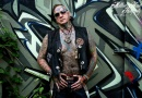 Frank Bäckmann, Harleyfahrer, Kampfsportler, Fotograf, Rock'n'Roller und TattooModel