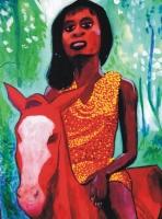 BLACK GIRL on horse