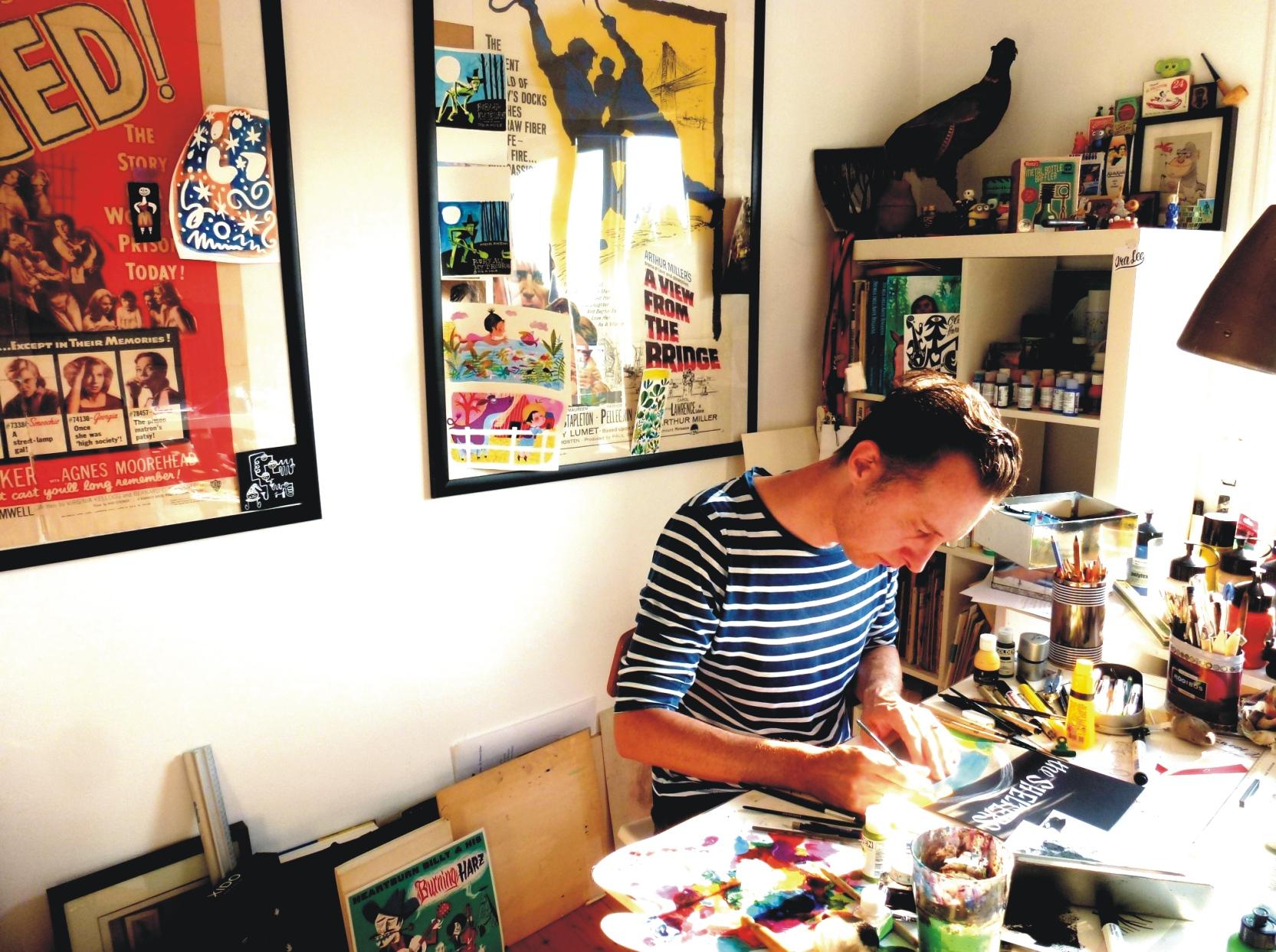 Marcel Bontempi an der Arbeit