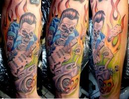 Hot Rod, Gitarre, R`n`R Tattoo